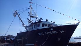 Equipamiento de cubierta y sistema hidráulico del Maz Sardina VII